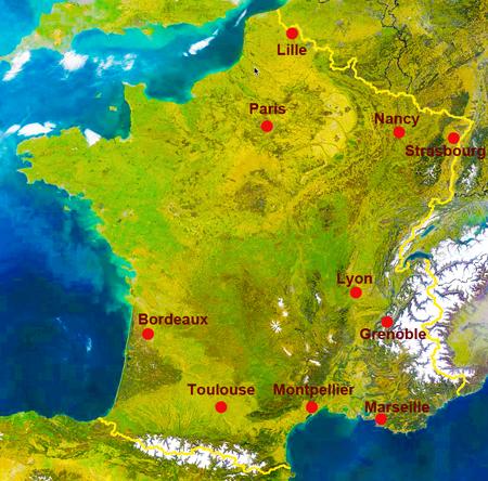 Carte de France des Masters
